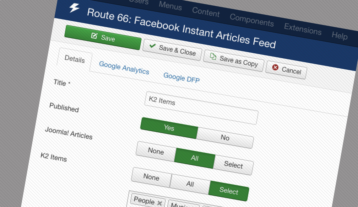 Route 66 Facebook Instant Articles